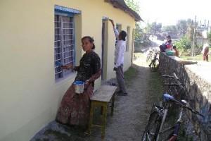 Foto renovatie schilderen school