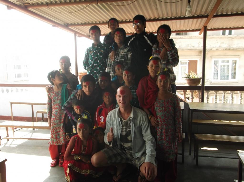 Dashain groepsfoto