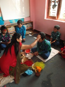 Dashain tika