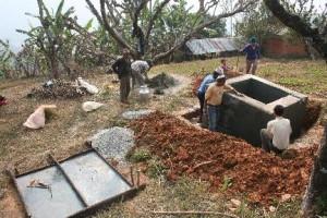 Foto watertank werk tweede tank
